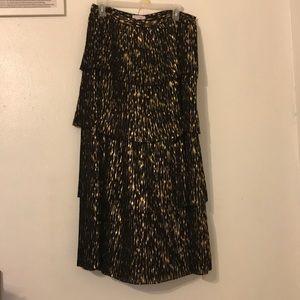 Olivia Palermo xChelsea28 Metallic Skirt